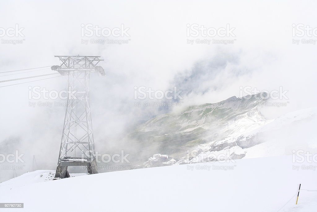 Tower in Snow stock photo