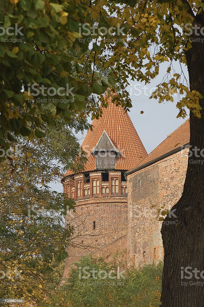 Tower in Tangermünde (Germany) stock photo