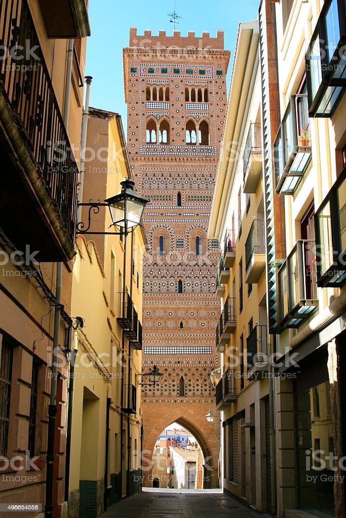Tower in Teruel stock photo