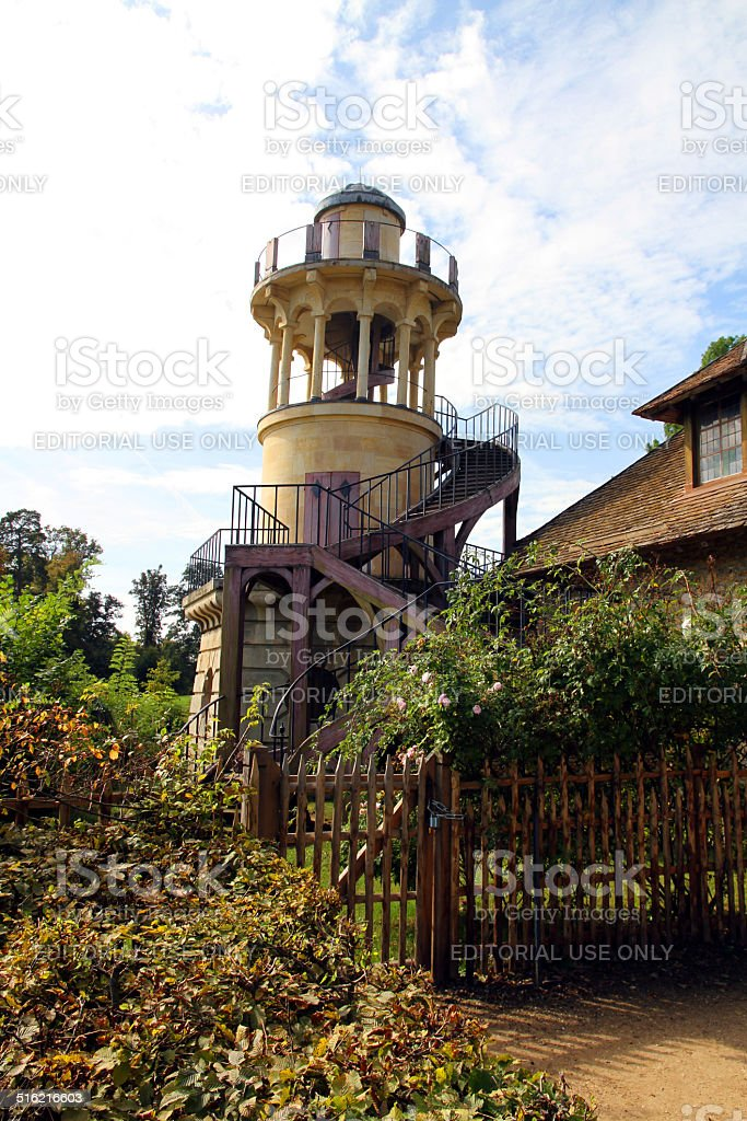 Tower in the Garden stock photo