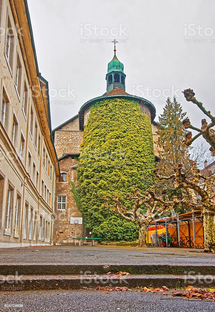 Tower in the Old Town of Solothurn stock photo