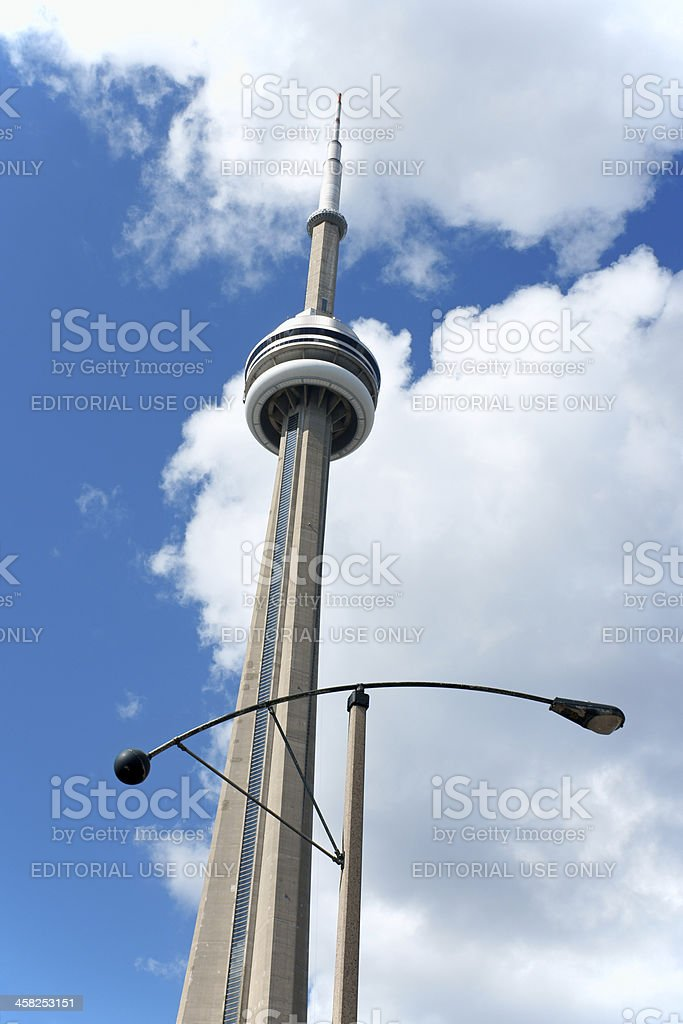 CN Tower in Toronto, Canada royalty-free stock photo