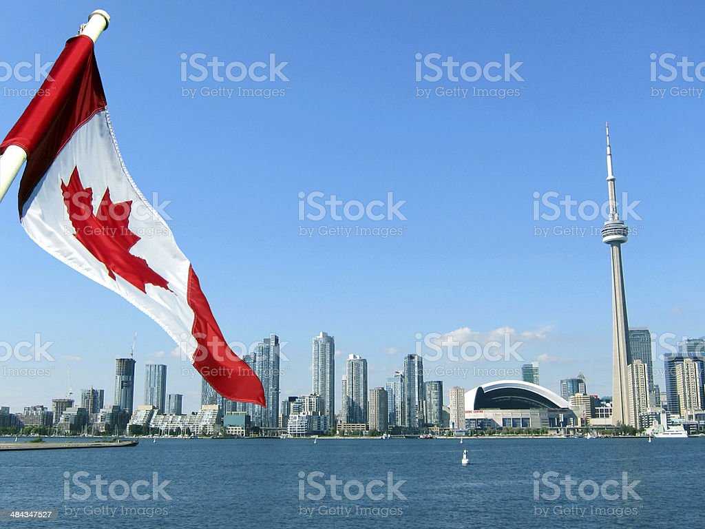 CN Tower in Toronto stock photo