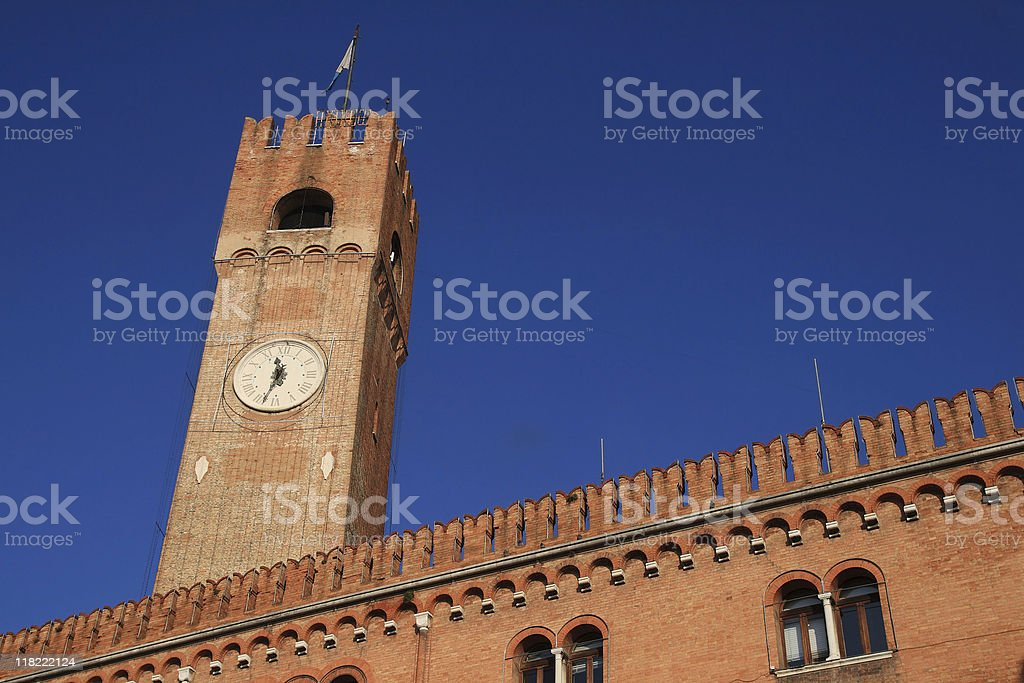 Tower in Treviso royalty-free stock photo
