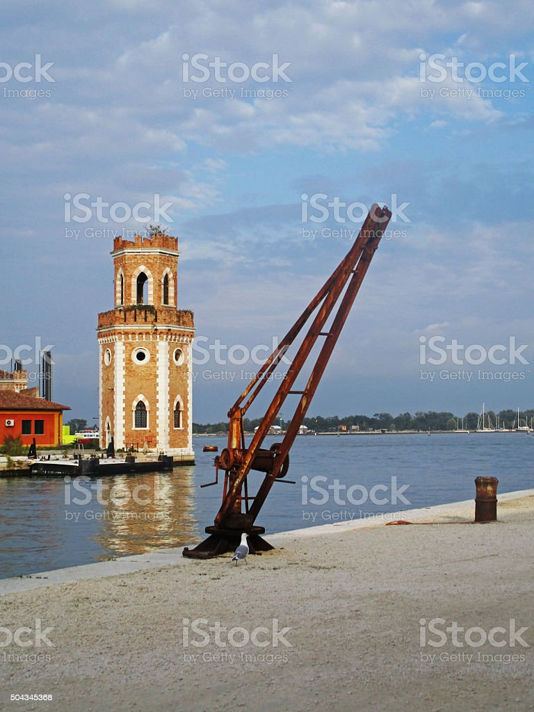 Tower in Venice stock photo