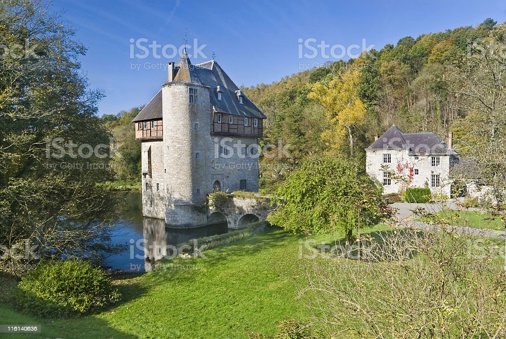 Tower in water, Belgium royalty-free stock photo