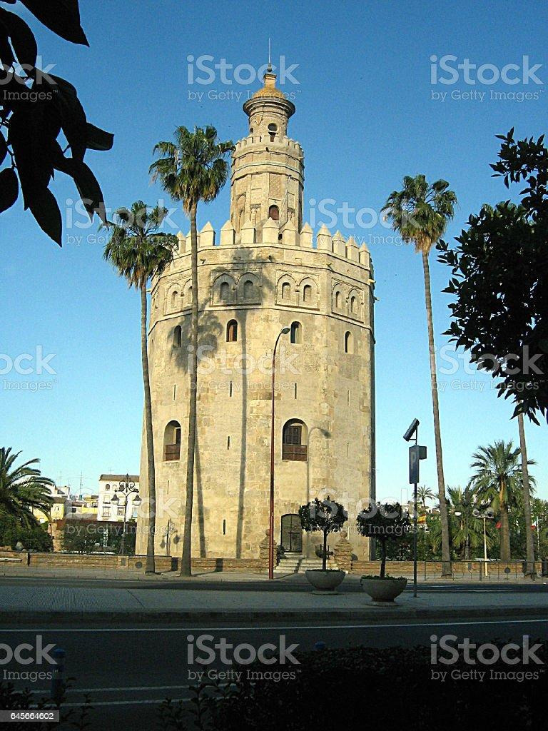 Tower la Torre del Oro  (Gold Tower) stock photo