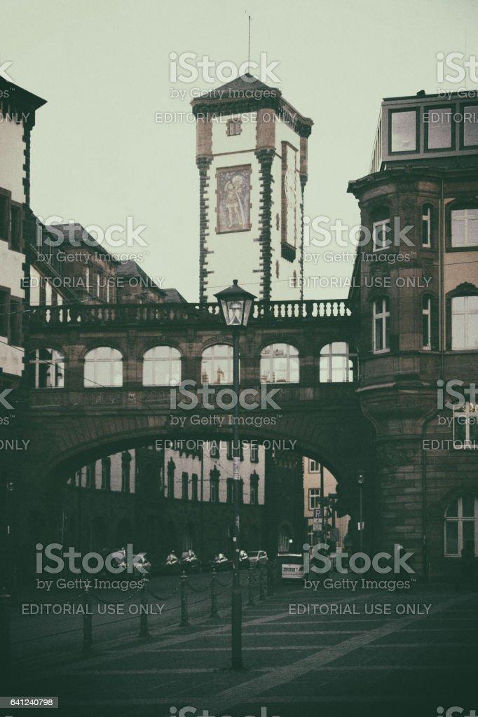 Tower Long Franc Frankfurt stock photo