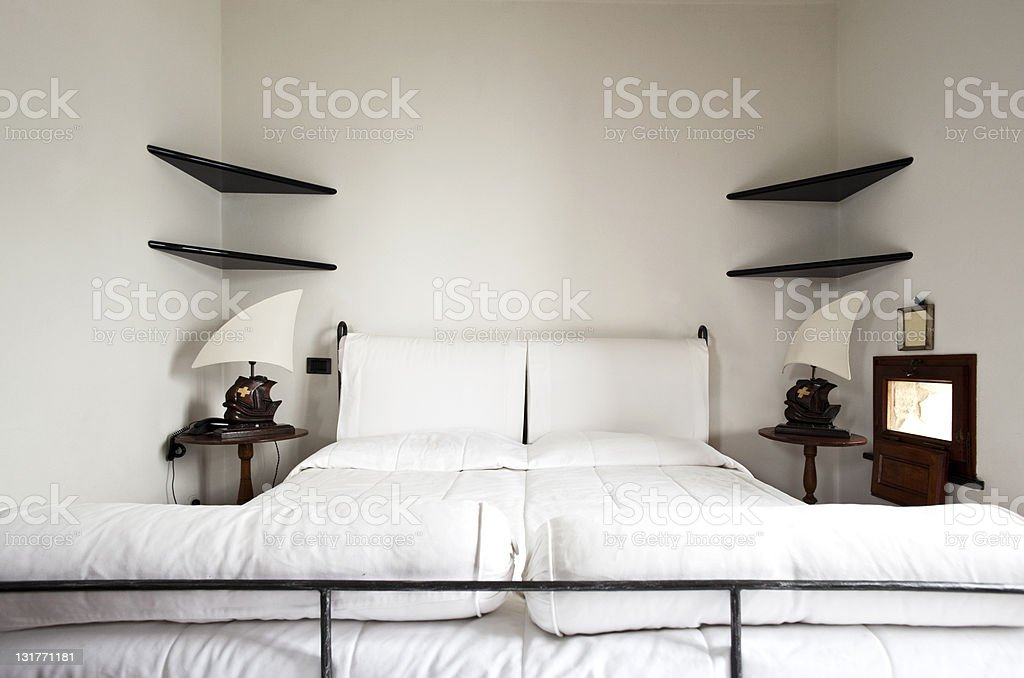 tower, luxury residential apartments, double bed royalty-free stock photo