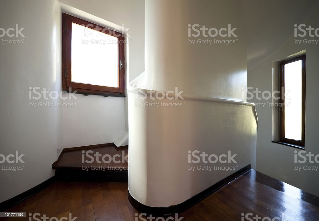 tower, luxury residential apartments, staircase royalty-free stock photo