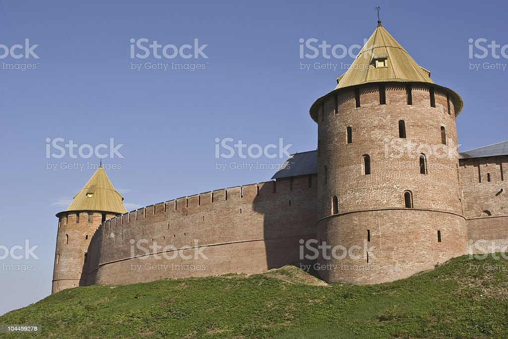 Tower of a fortress royalty-free stock photo
