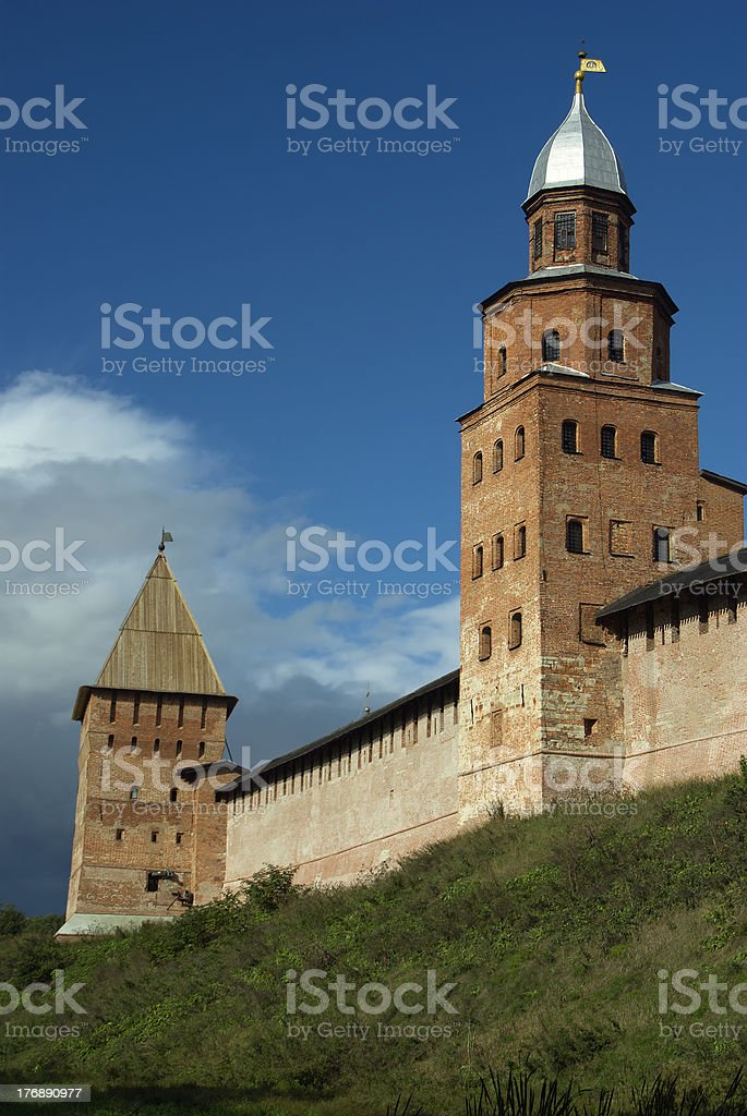 Tower of a fortress. royalty-free stock photo
