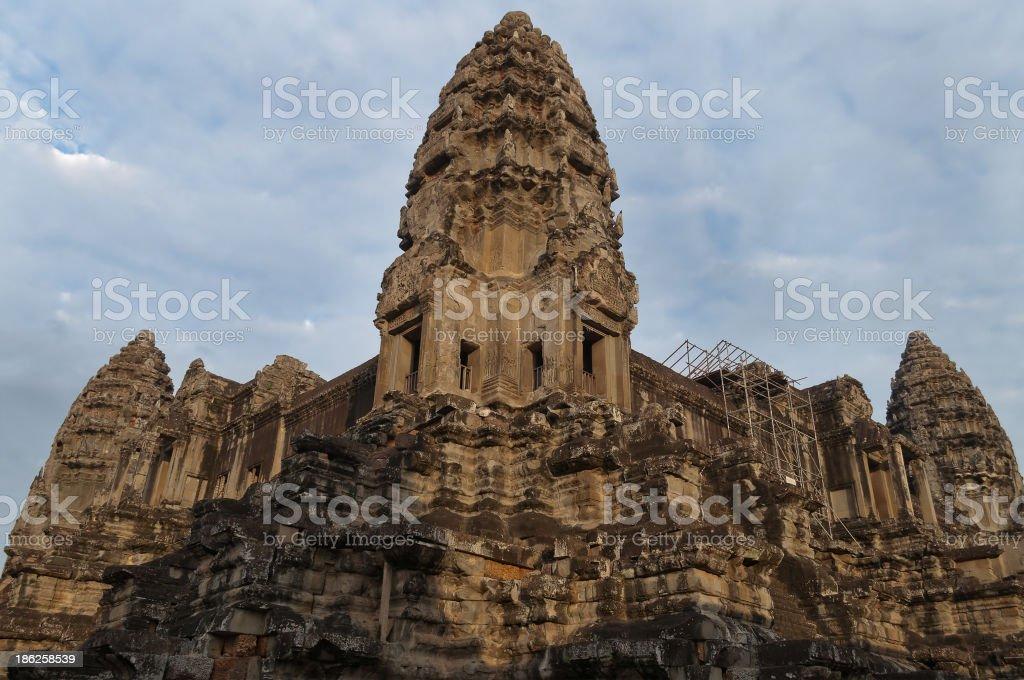 Tower of Angkor Wat royalty-free stock photo