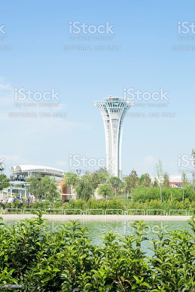 Tower of Antalya Botanic Expo 2016. stock photo