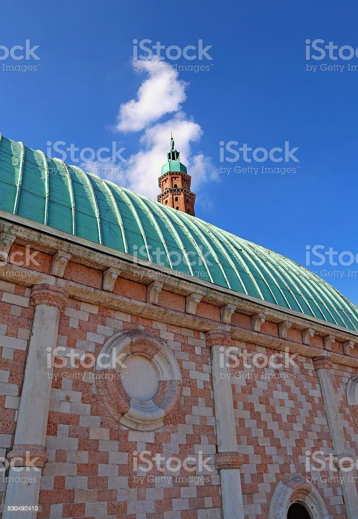 tower of Basilica Palladiana stock photo