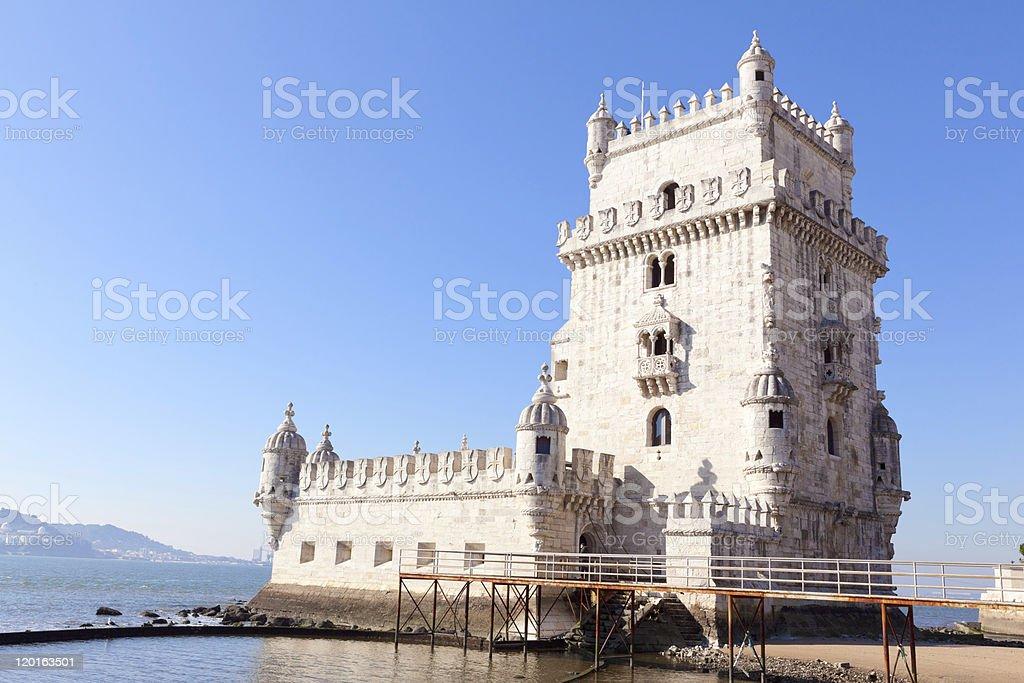 Tower of Belem (Torre de Belém) in Lisbon, Portugal royalty-free stock photo