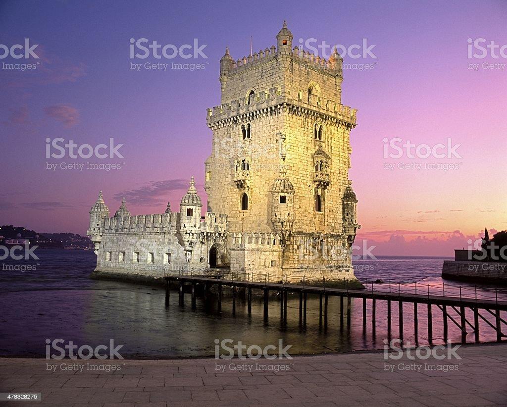 Tower of Belem, Lisbon, Portugal. stock photo