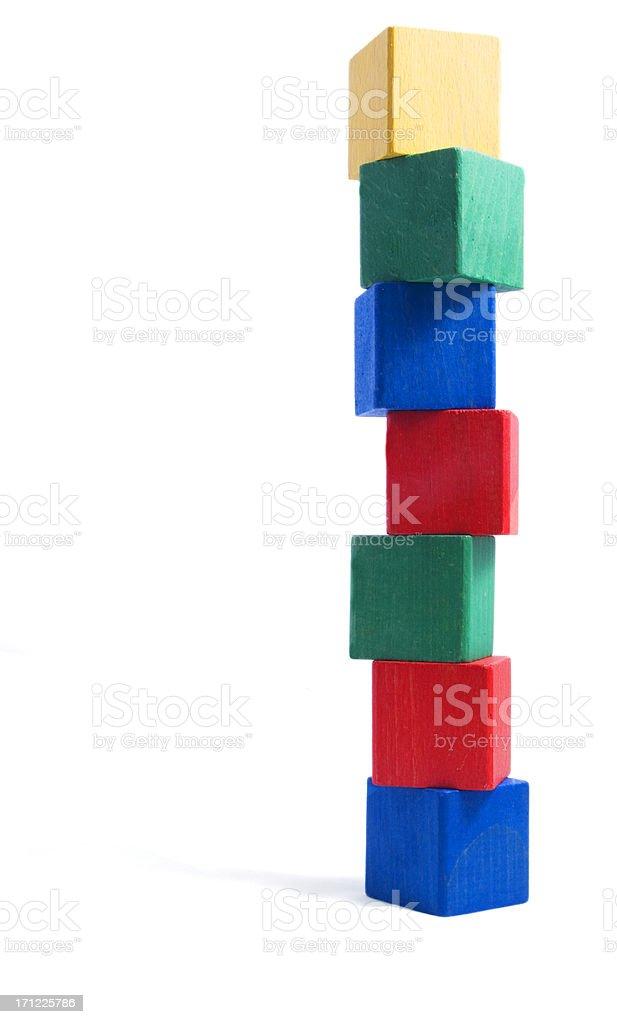 tower of blocks, royalty-free stock photo