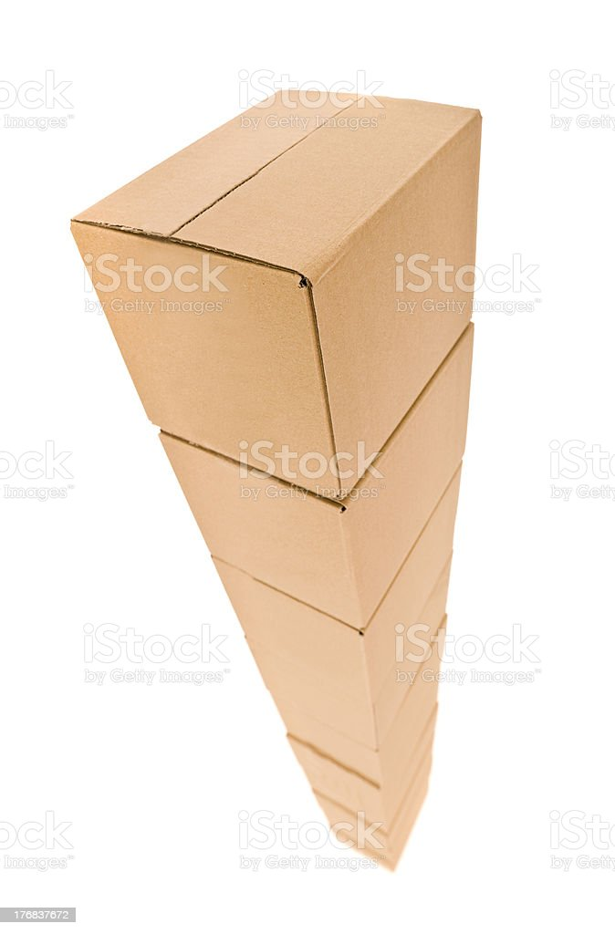 Tower of Cardboard boxes royalty-free stock photo