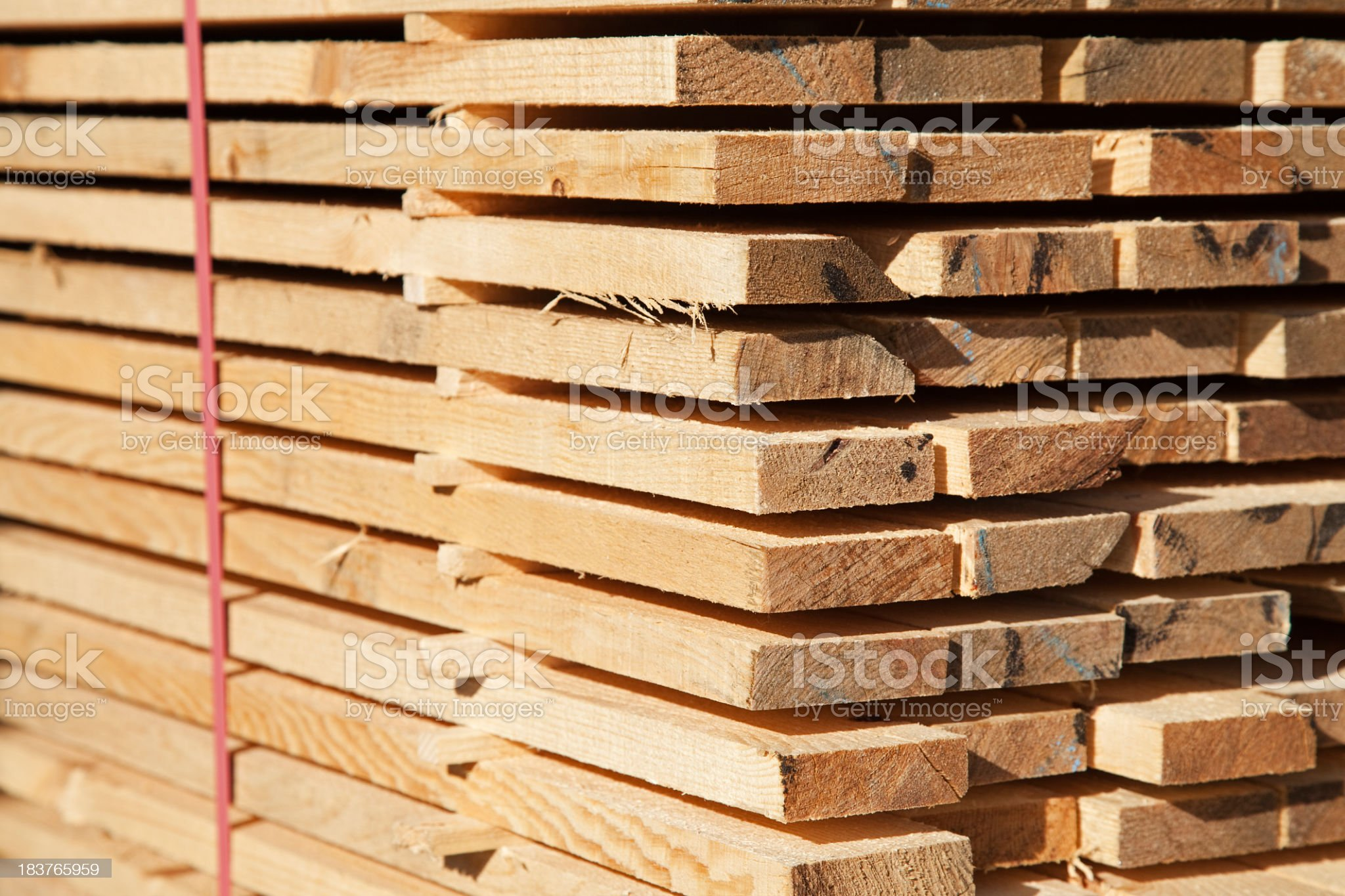 Tower of cut wood ready for sale royalty-free stock photo
