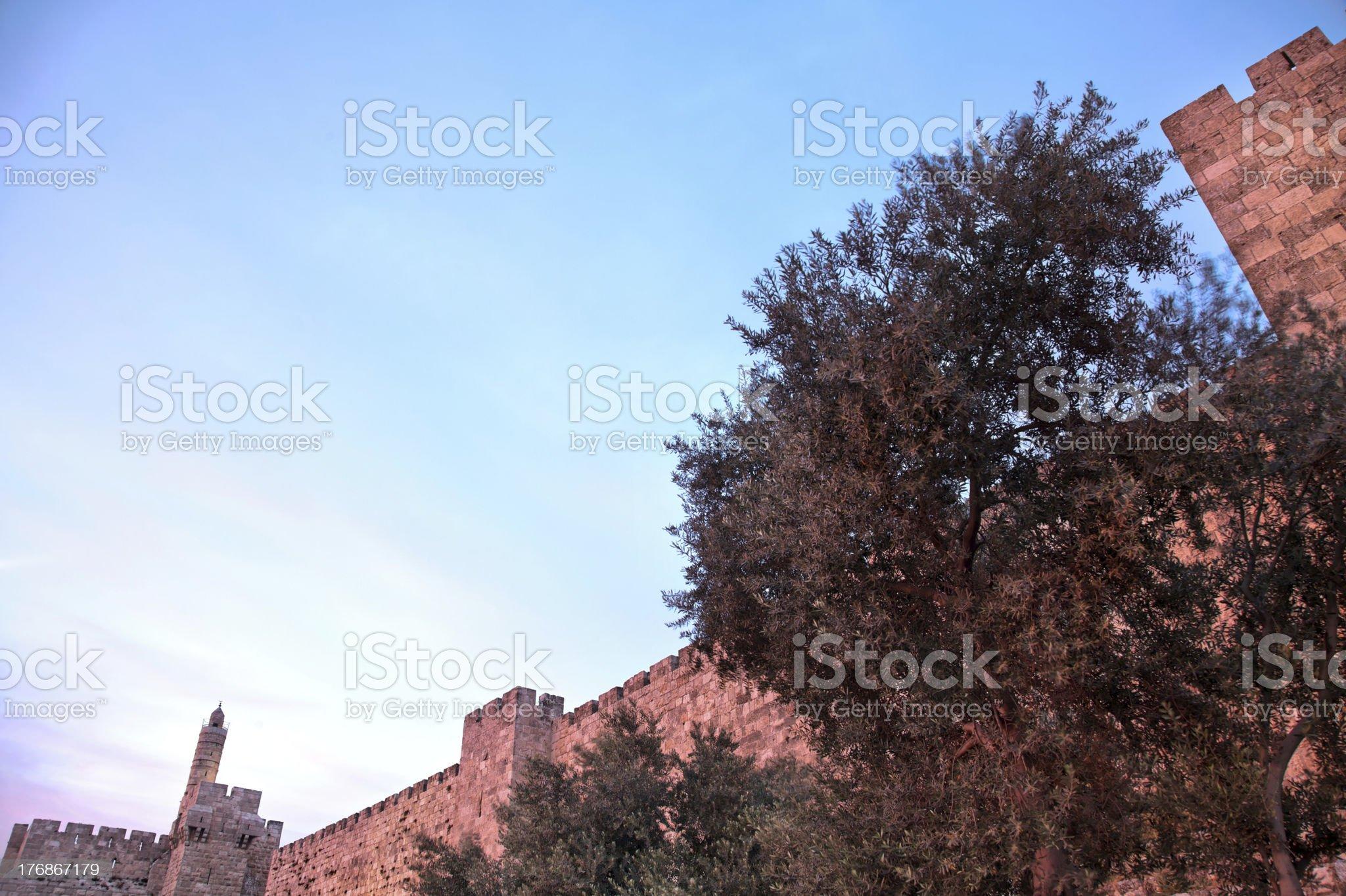 Tower of David at Dusk royalty-free stock photo