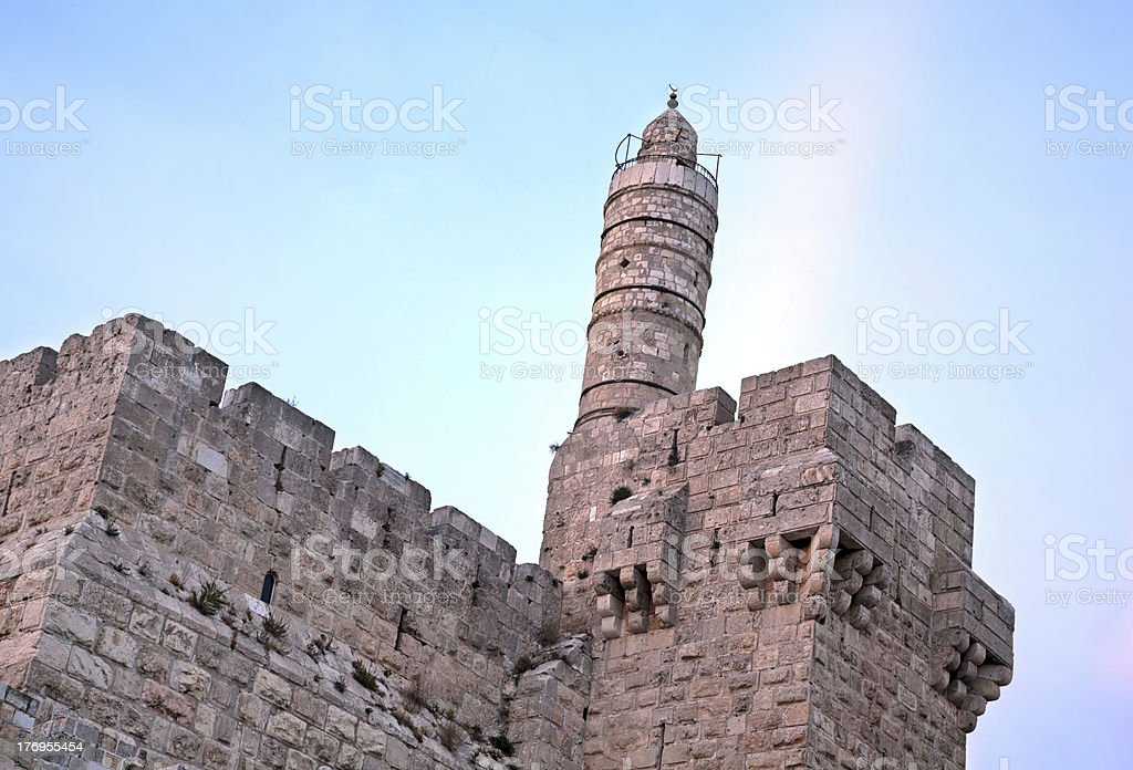 Tower of David at Dusk royalty-free stock photo