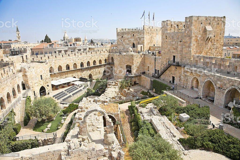 Tower of David in Jerusalem, Israel stock photo