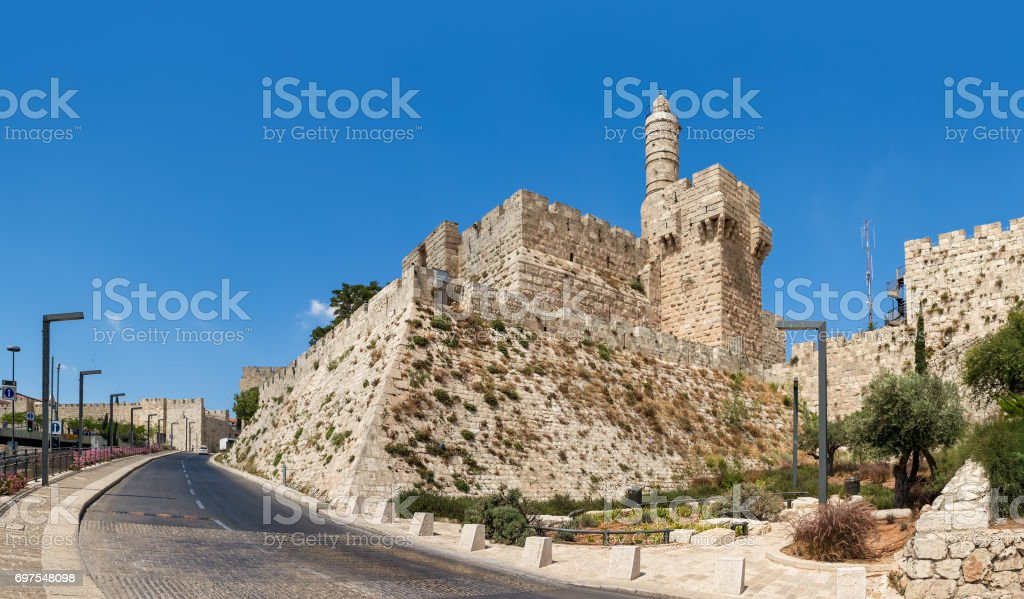 Tower of David in Jerusalem, Israel. stock photo