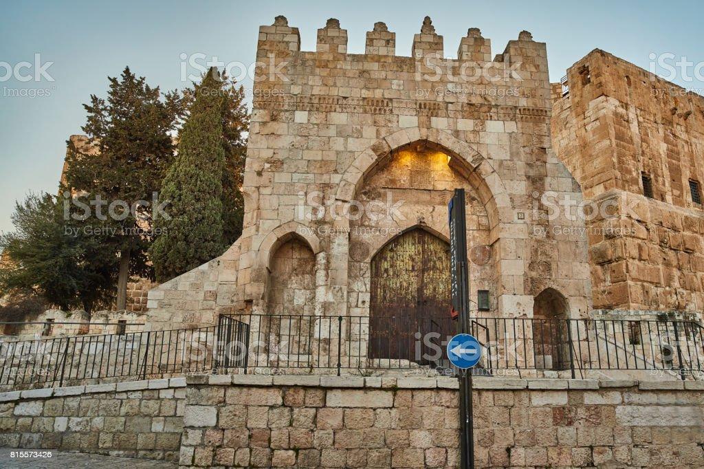 Tower of David in Jerusalem stock photo