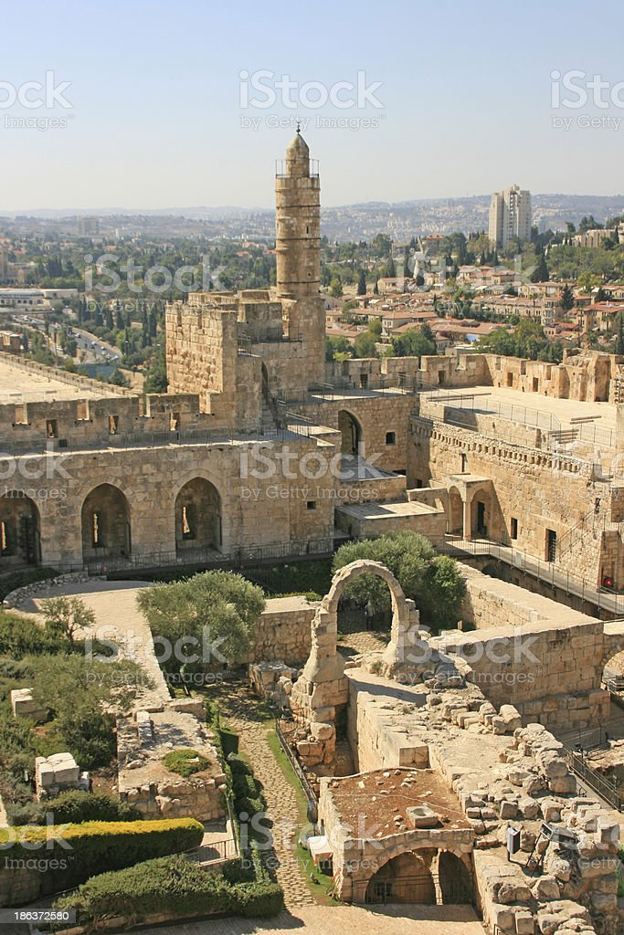Tower of David, Jerusalem, Israel. stock photo