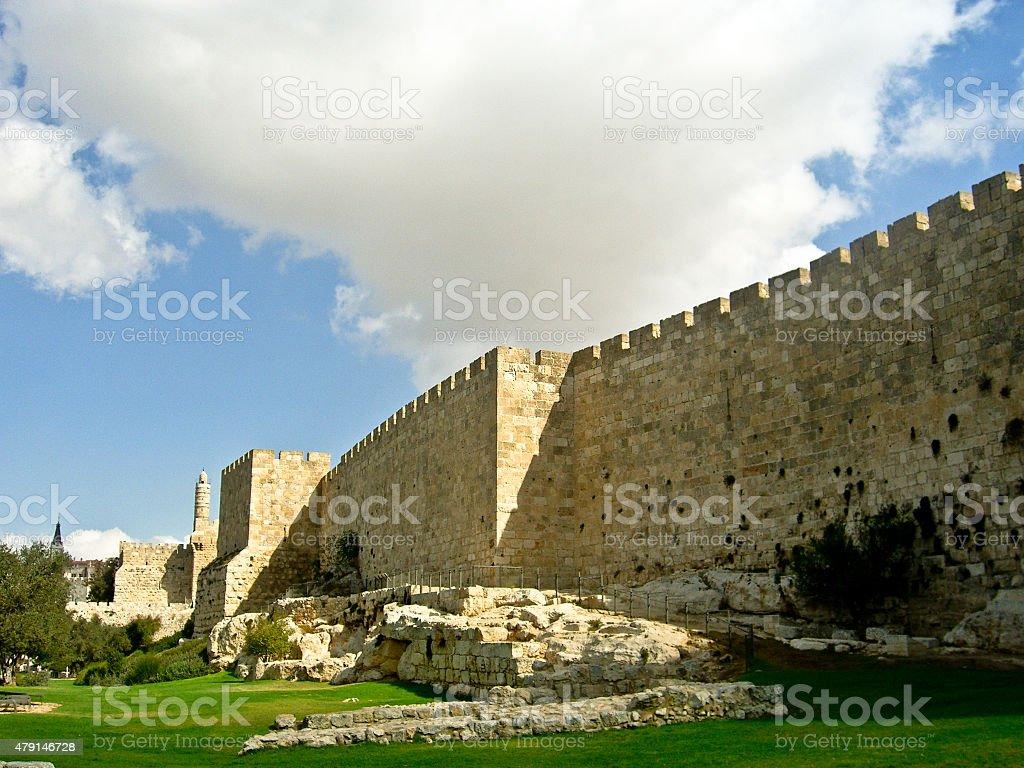 Tower of David, Jerusalem Old city stock photo