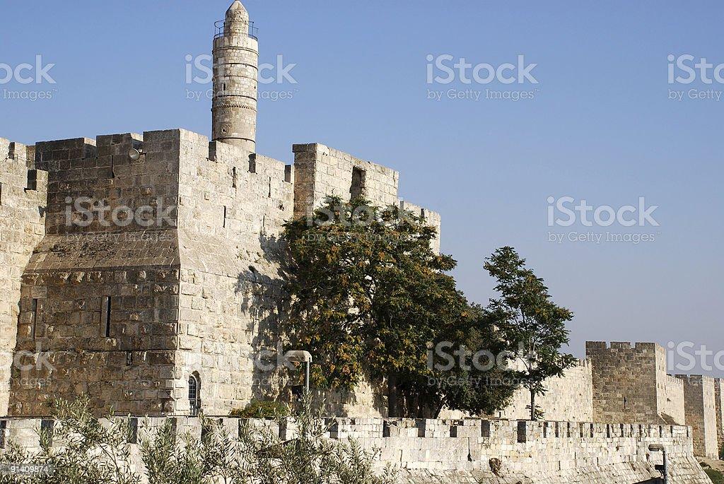 tower of David (Jerusalem) royalty-free stock photo