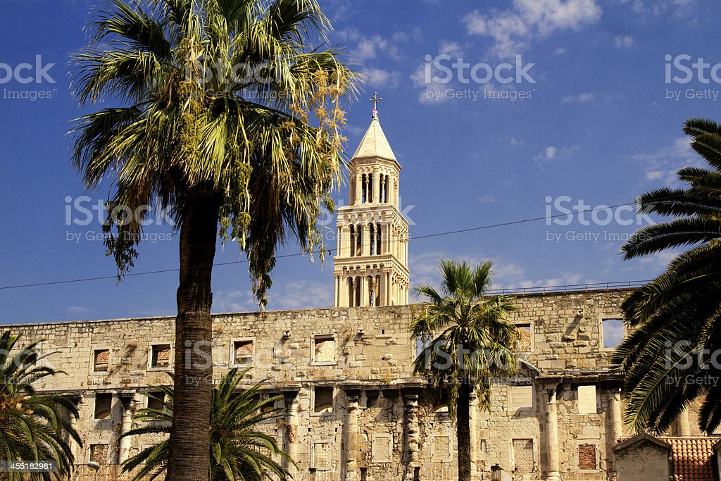 Tower of Diocletian's Palace stock photo