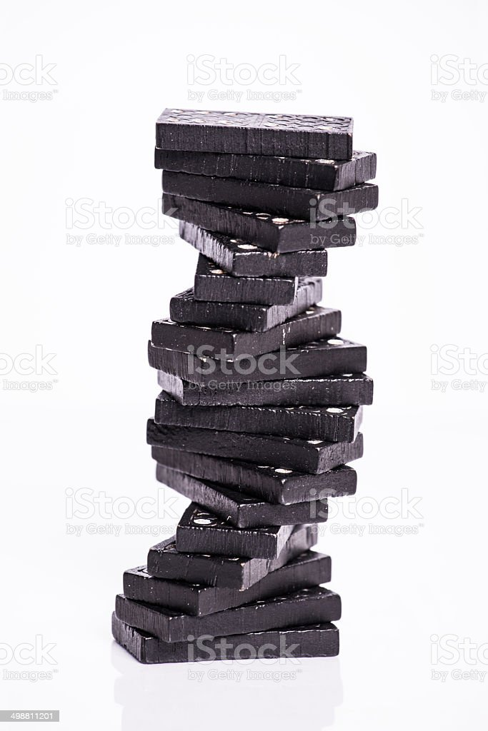 Tower of dominoes royalty-free stock photo