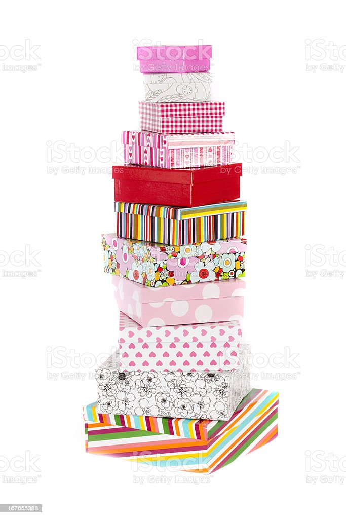 Tower of Fancy Boxes royalty-free stock photo