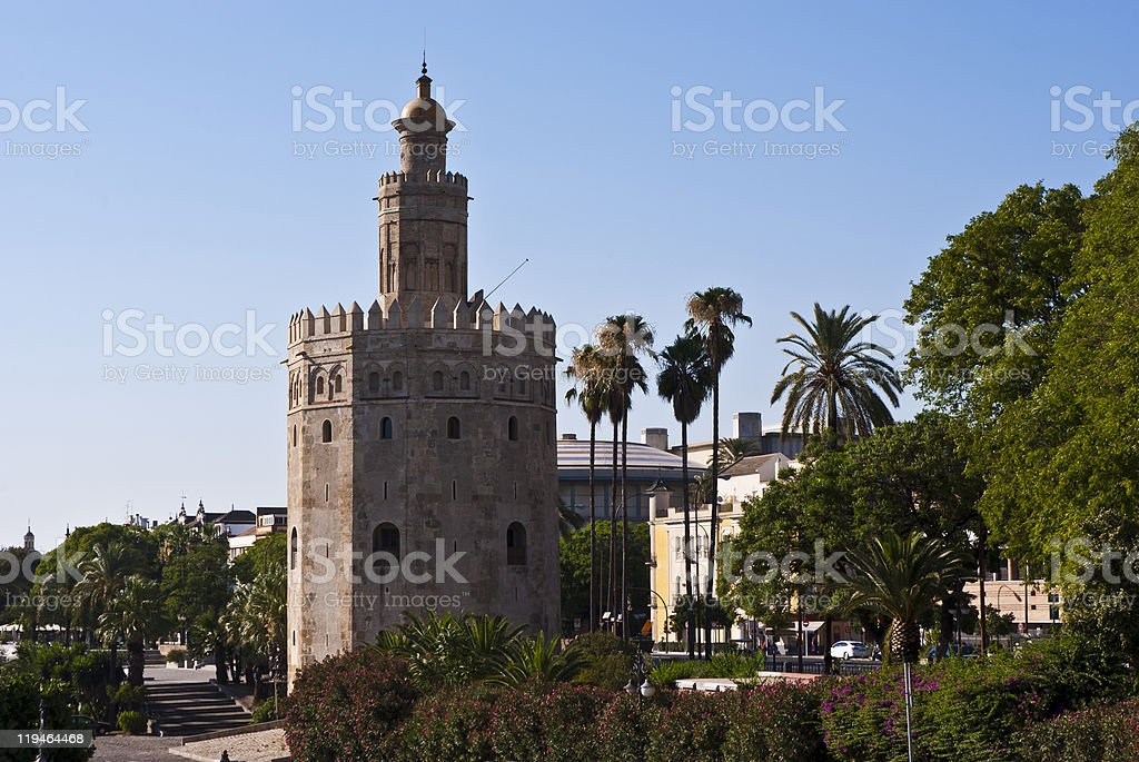 Torre del Oro In Seville royalty-free stock photo