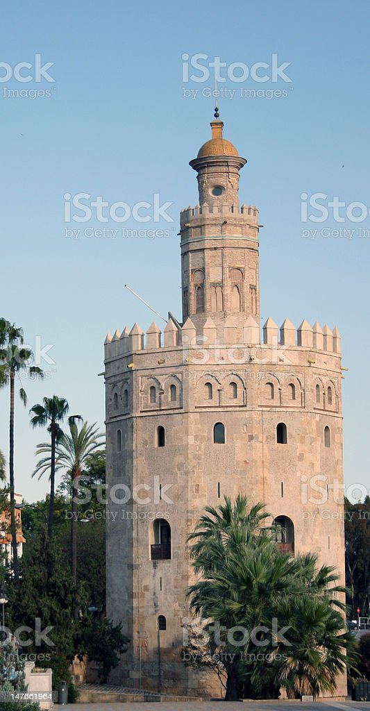 Torre del Oro royalty-free stock photo