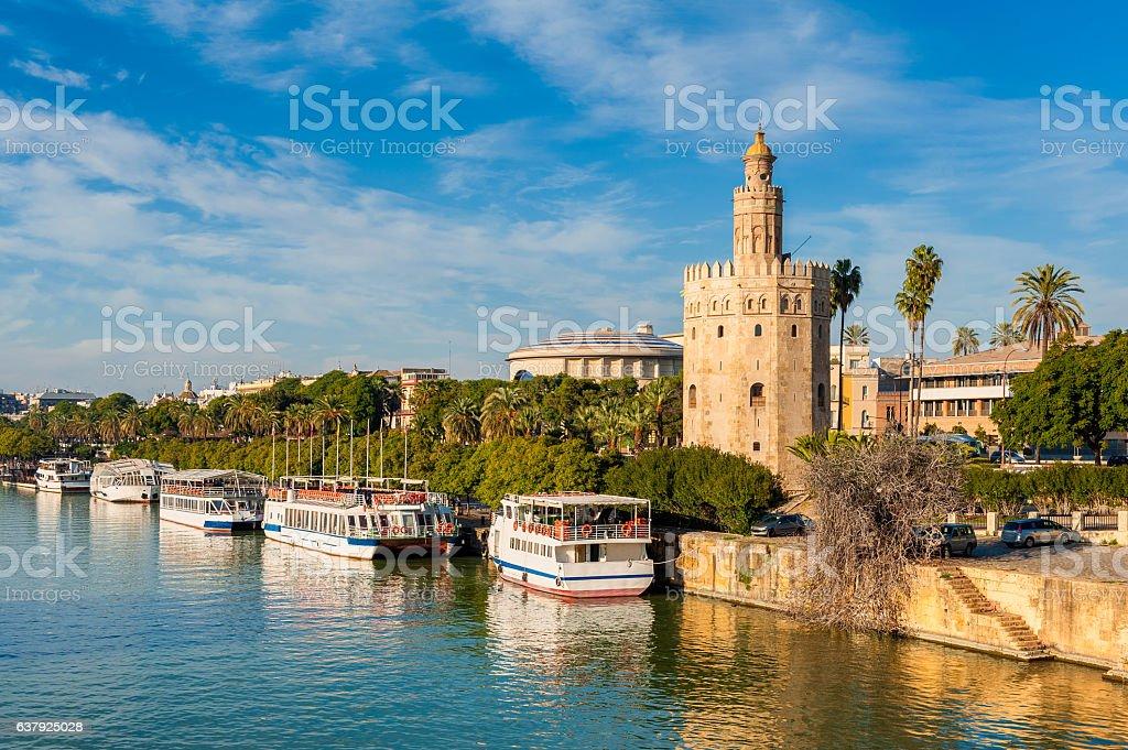Tower of Gold Sevilla stock photo