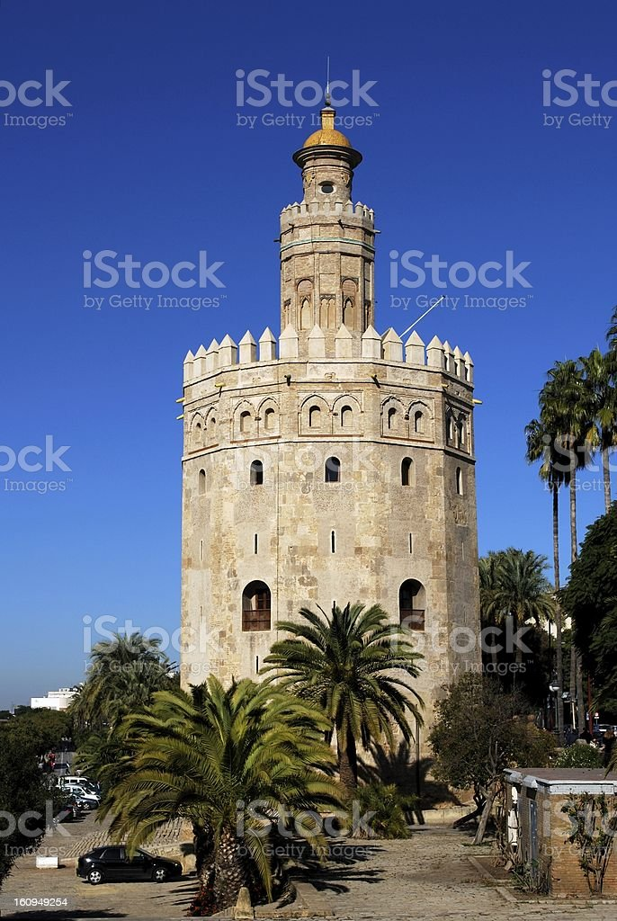 Tower of Gold, Seville, Andalusia, Spain. royalty-free stock photo