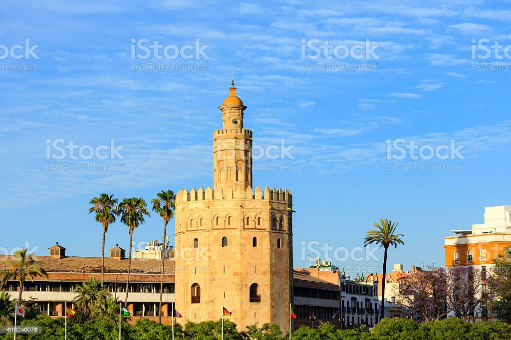 Tower of Gold, Seville, Spain. stock photo