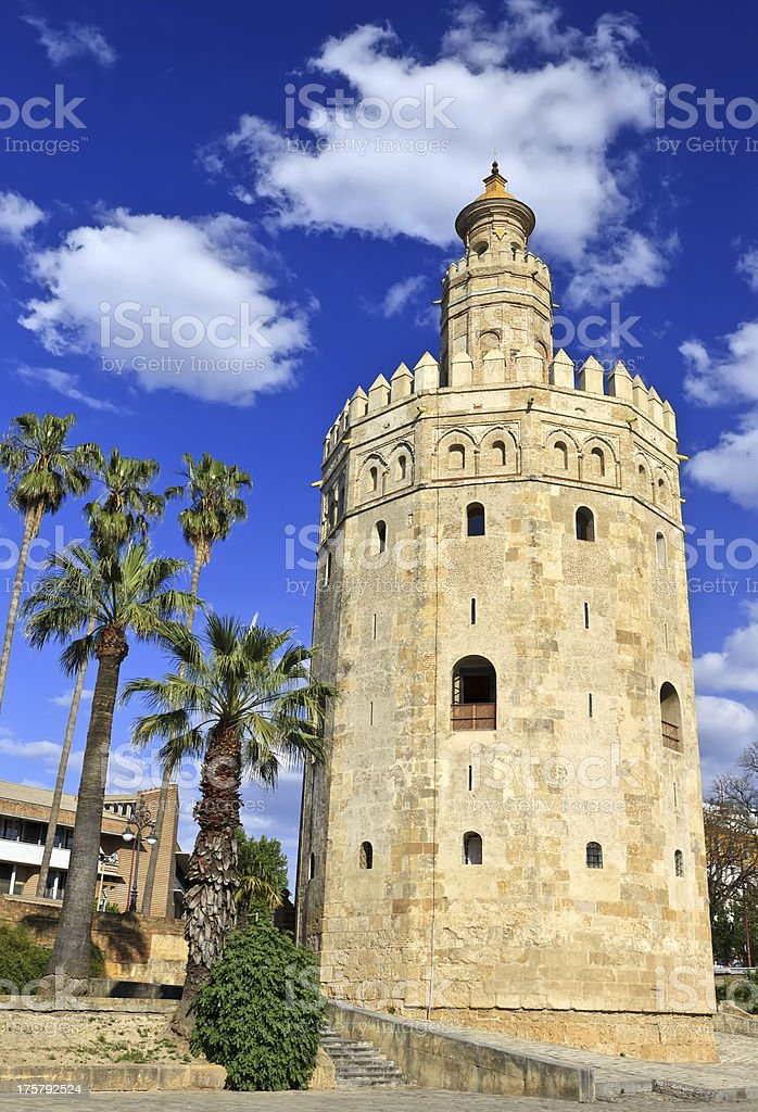 Tower of gold, Torre del Oro, Sevilla royalty-free stock photo