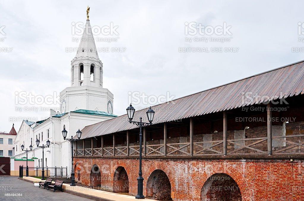 Tower of Kremlin in Kazan stock photo