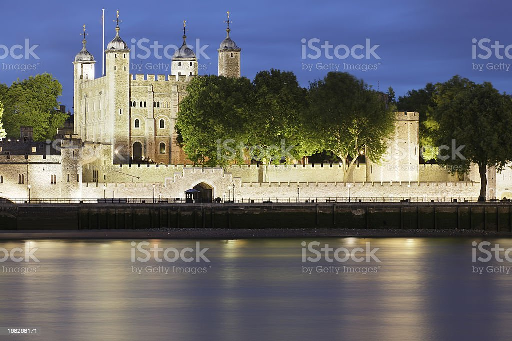 Tower of London at night royalty-free stock photo