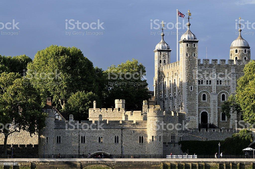 Tower of London at sundown stock photo