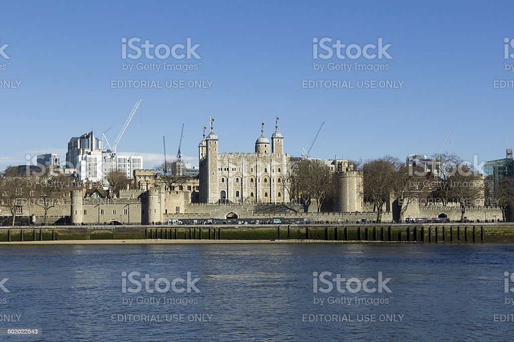 Tower of London from the South stock photo