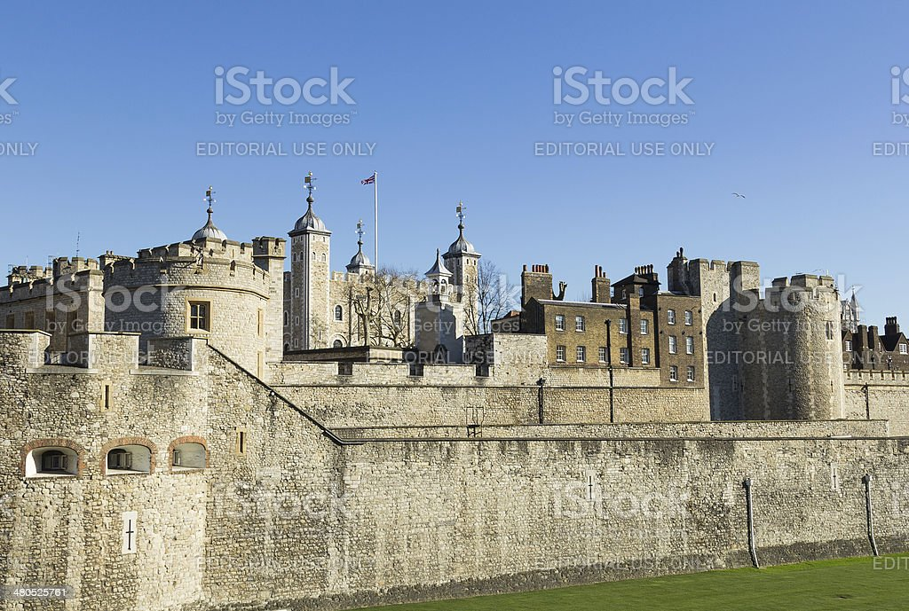 Tower of London from the West stock photo