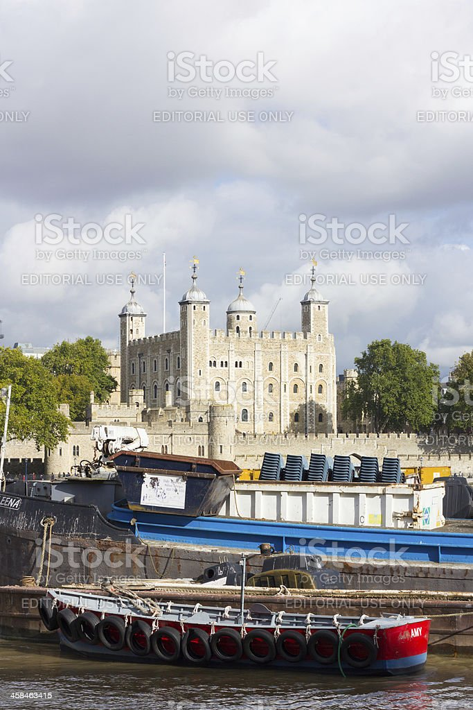 Tower of London in England, UK stock photo