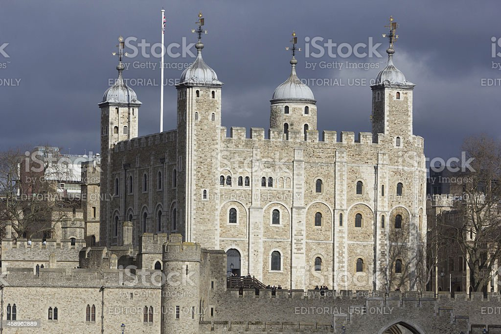 Tower of London in England, UK royalty-free stock photo