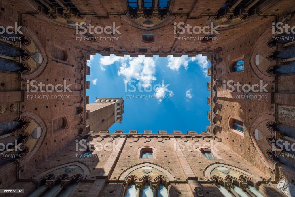 Tower of Mangia stock photo