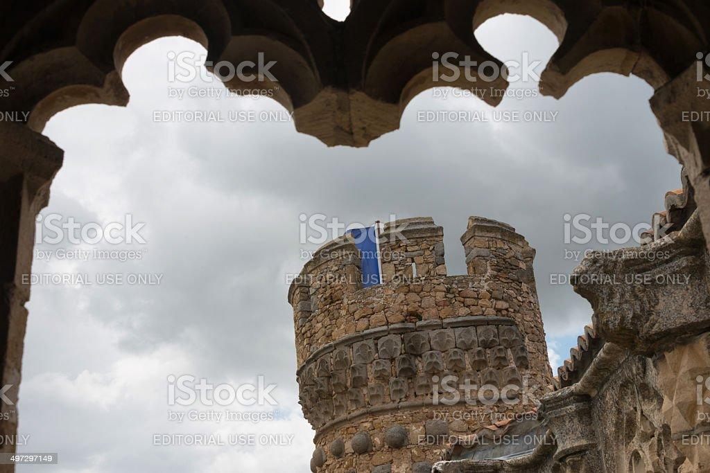 Tower of Manzanares El Real Castle in Madrid royalty-free stock photo